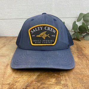 Salty Crew mens Snapback Hat Cap Navy Blue Patch